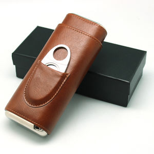 wholesale new gift design PU leather cigar case