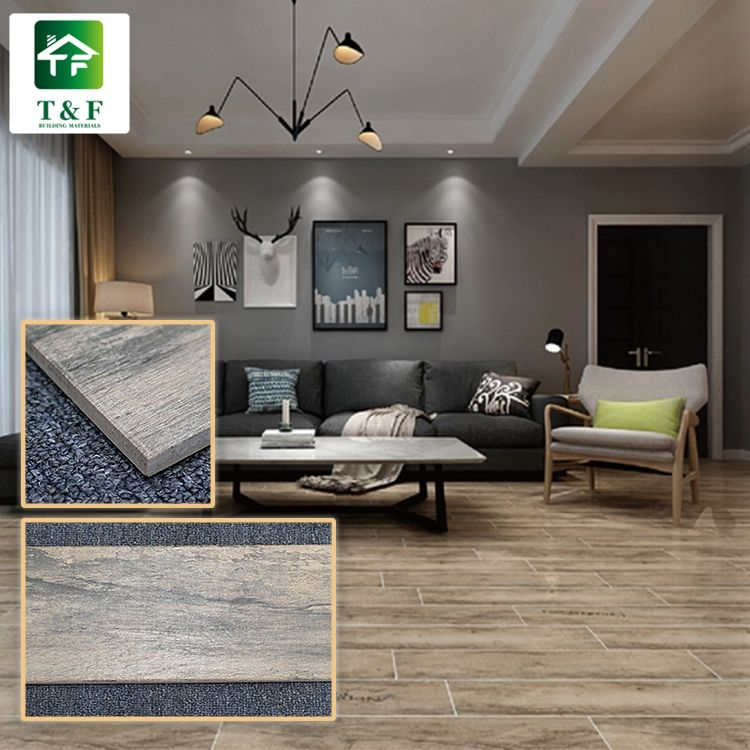 15 x 80 10.5mm thick non slip digital printing wooden tiles manufacturers tiles that look like wood teak tile