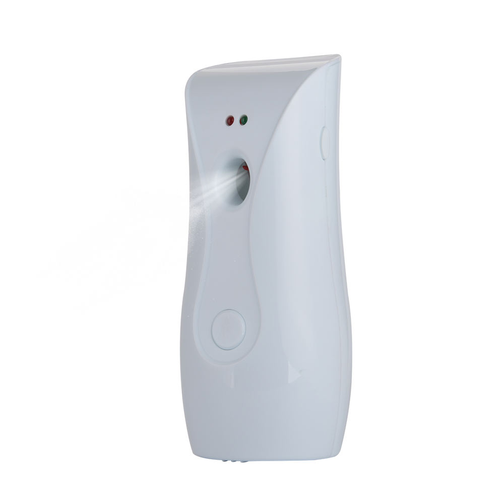 Wall mounted toilet fragrance spray battery operated automatic aerosol air freshener dispenser