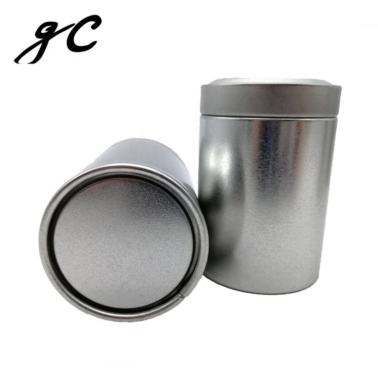 Mini Round Aluminium Alloy Tea Tins Coffee Sugar Case Airtight Canister Pill Storage Box with Twist Lid Cover