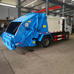 China small size garbage vehicle 2 tons capacity garbage trucks