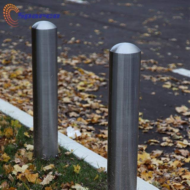 Rust Proof Warning Bollard Inground Stainless Steel Traffic Barrier Price