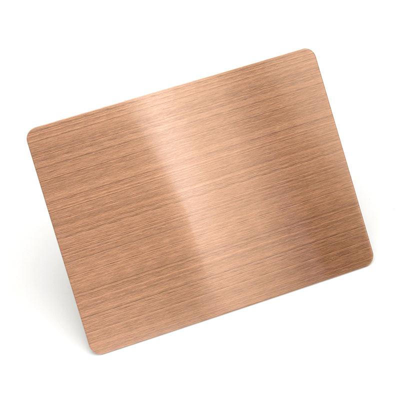 Decoration plate 201 304 HL red bronze stainless steel sheet 4*8