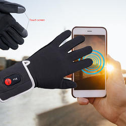 Electric Heated Gloves with 7.4V 2200mAh Rechargeable Batteries Thermal Touch screen Heating Gloves for Skiing Hunting Hiking