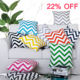 Modern Style Cotton Canvas Vintage Linen Chevron Zigzag Printing Decorative Sofa Cushion Cover Throw Pillow Case HT-CCPC-01A