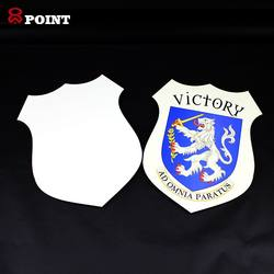 competition Souvenir wholesale wooden shield Blank Available For Logo Printing