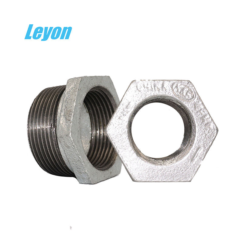"Factory Price GI fittings Water Pipe Compression Fitting Bush 1/2"" Male x 9/16"" Female Bushing bs standard malleable bushing"
