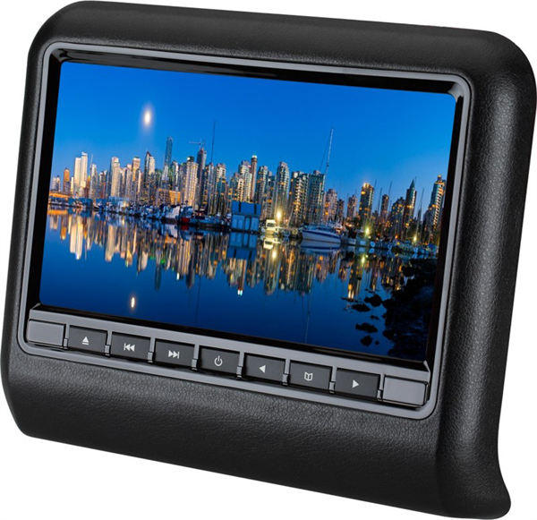 Car headrest monitor with 9 inch screen and USB SD mp5 for taxi also