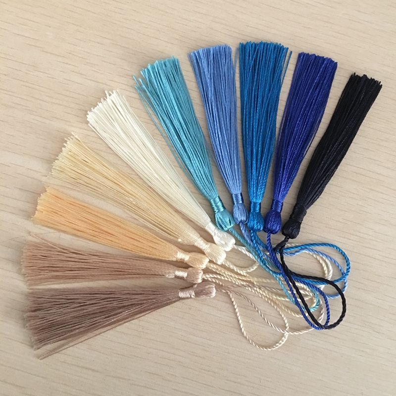 NANA high quality custom free sample cheap polyester silk tassel, 7cm tassel silk