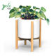Garden And Outdoor Modern Adjustable Mid Century Natural Bamboo Plant Stand For Ceramic Flower Pot