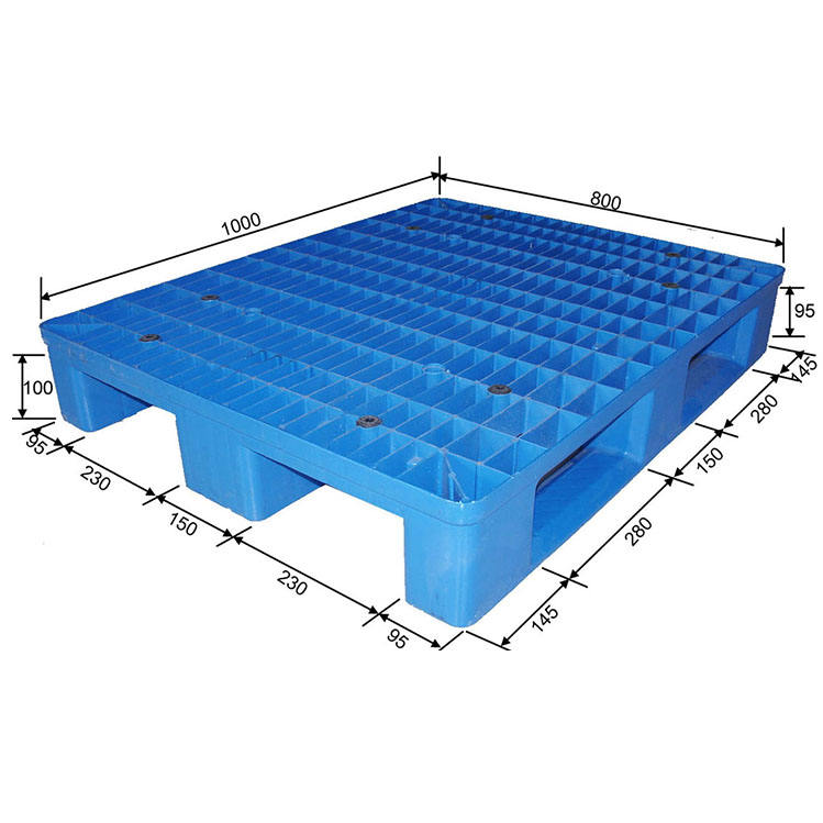 China cheap custom heavy duty small stack double face HDPE plastic pallet