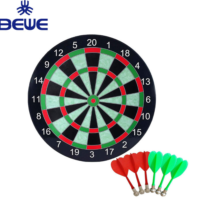 Indoor Colored Plastic Dart Board With Safety Dart