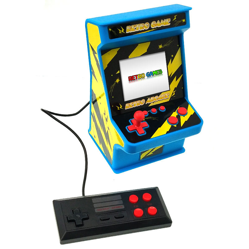 YLW Mini Retro Real Handheld Arcade Games Console Portable Mini Arcade Retro Gaming Console Built-in 256 Games for kids