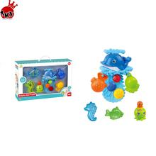 #bubble bath toy Place Float and Squeak Rubber ball bath toy Duck Ducky Baby Bath Toy for Kids