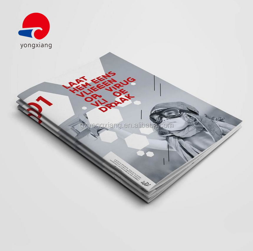 glossy or matte paper high quality direct manufacturer pocket booklet catalog printing brochure printing