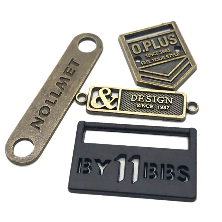 Accessories Hardware Labels Custom Brand Name Logo Metal Plate Manufacturer for Bag Clothing and Handbags