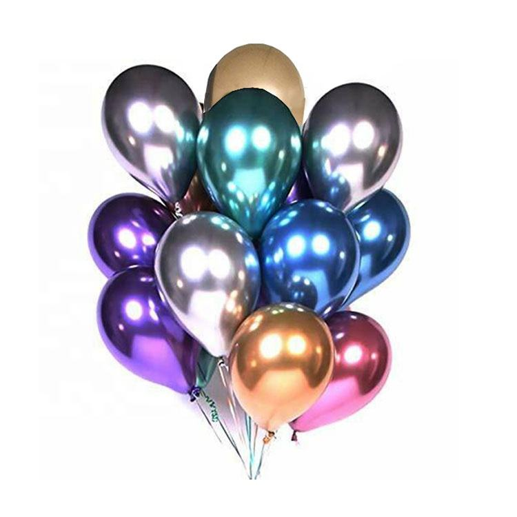 Party&wedding high quality Metal balloon colorful peal metallic latex balloons decoration Chrome balloons