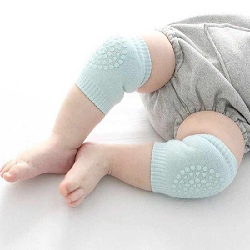 Wholesale Warm Anti-Slip Knitting Baby Crawling Safety Protector Baby Knee Pads For Crawling
