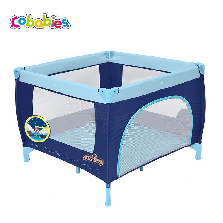 Plegable de alta calidad seguridad cuadrado bebé cuna portátil de los niños cama Corralitos