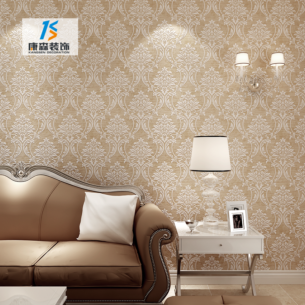 Luxury designs non woven wallcovering pvc wallpaper