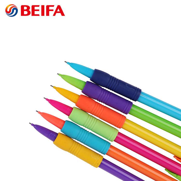 Beifa бренд MB1527 лучшие продажи цвета радуги пластиковые Automatic 0,7 мм механические карандаши с ластиком