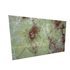 Dark Green Onyx Marble Stone Slab Cut Into Tile. Vanity Top, Table, Wall Tiles