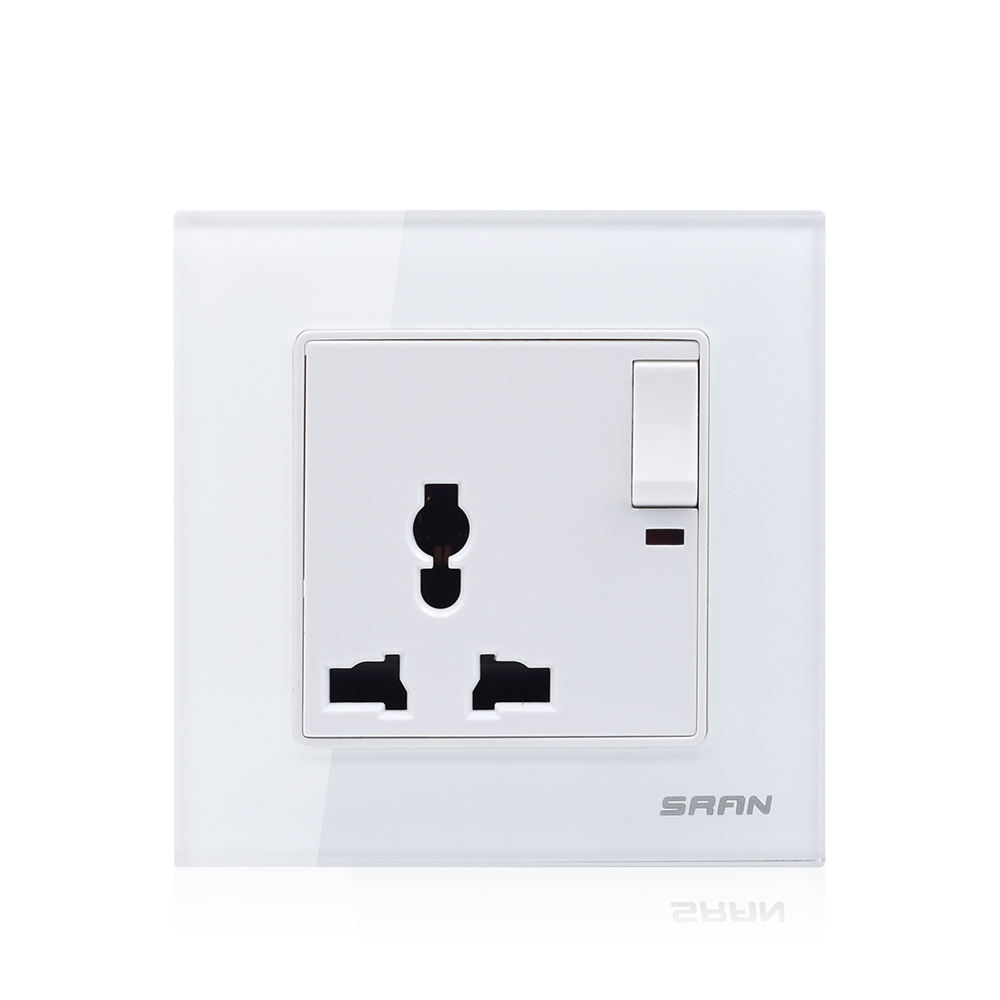 China modern universal 3 pin switch socket in wenzhou