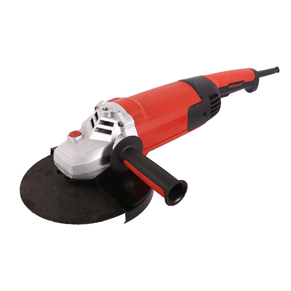 China DONGSEN electric 110V 2400w 230mm handle angle grinder