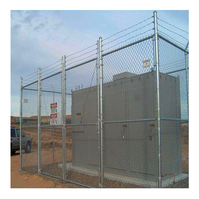 6ft x 50ft Galvanized Steel 9 Gauge Chain Link Fencing Fabric/heavy duty industrial chain link fencing