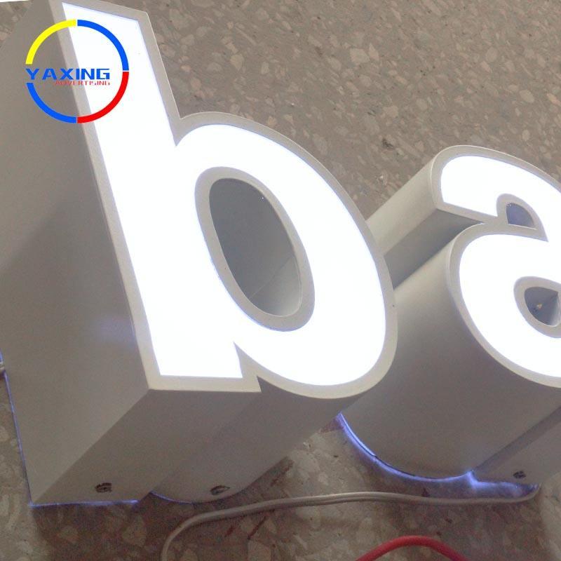 Personalizado colorido 3d frontlit canal signo carta de led de acero inoxidable letra del alfabeto