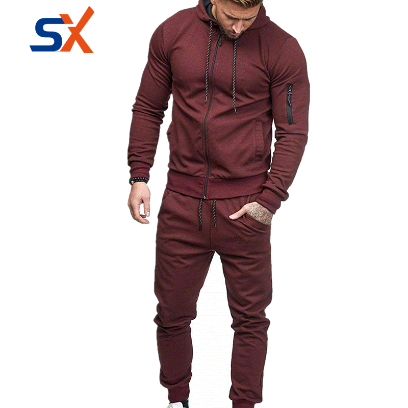 2019 hot selling cheap tissus jogging track suits for adults men