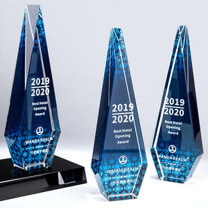 Hot New Crystal Color Glass Dance Trophy Trophy Grammy Trophy Wholesale