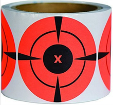 Hybsk 3 inch Target Pasters Round Adhesive Shooting Targets - Target Dots - Fluorescent Red stickers