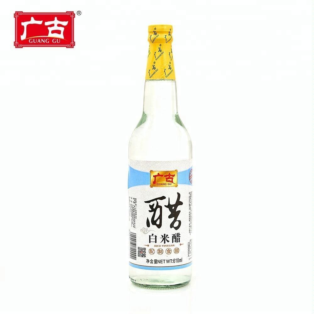Guanggu Preço de Fábrica Natural Vinagre De Arroz Branco para A Tomada de Frutas Vinagre de Maçã