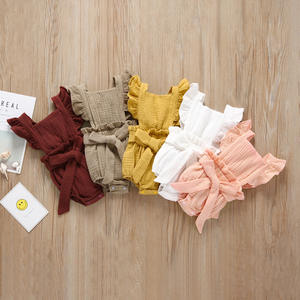 Wholesale 2019 newborn baby clothes organic cotton baby rompers