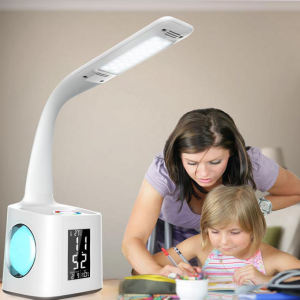 Amazon hot sales usb charging touch control flexible kids study desk table lamp with pen holder