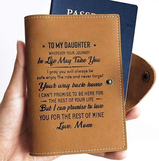 Amazon Popular Custom Memory Passport Holder Cover Wallet Daughter Son Dad Mom Love Journal Gift Notebook