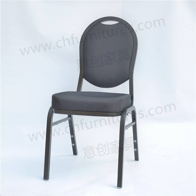 Cheap modern stackable black metal padded conference room chair