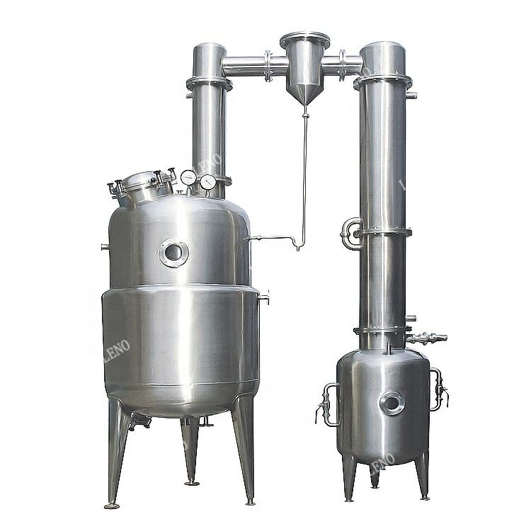 High Performance vacuum evaporator jam concentrator food grade milk honey water alcohol oil vaccum evaporation