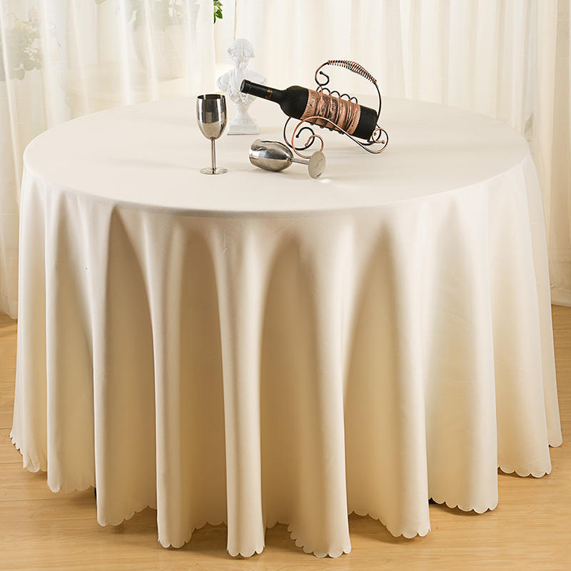 "Star-rated restaurant for sale 116 ""round table cover polyester / cotton white linen tablecloth"