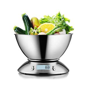 Fast Delivery 5kg Stainless Steel Digital Food Weighing Electronic Kitchen Scale with detachable bowl kitchen weighing scale