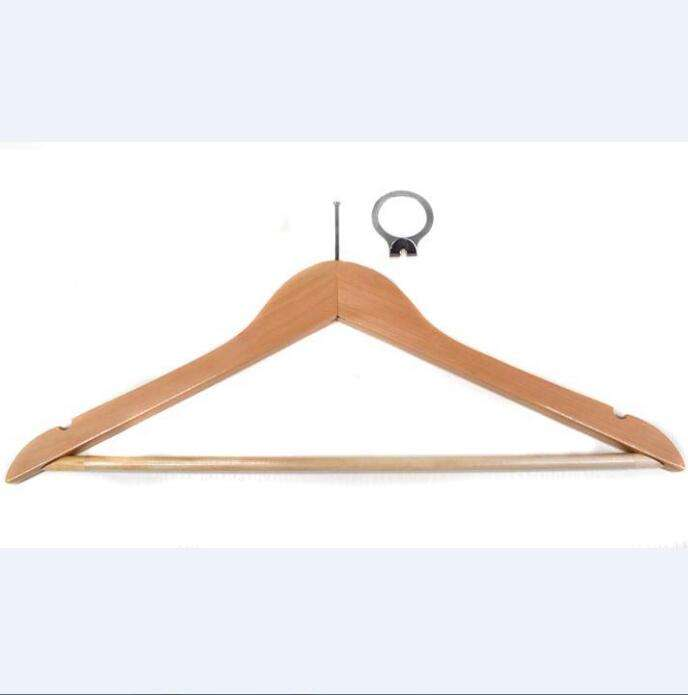 hot models wooden hanger hotel anti theft and solid clothes hanger of unique