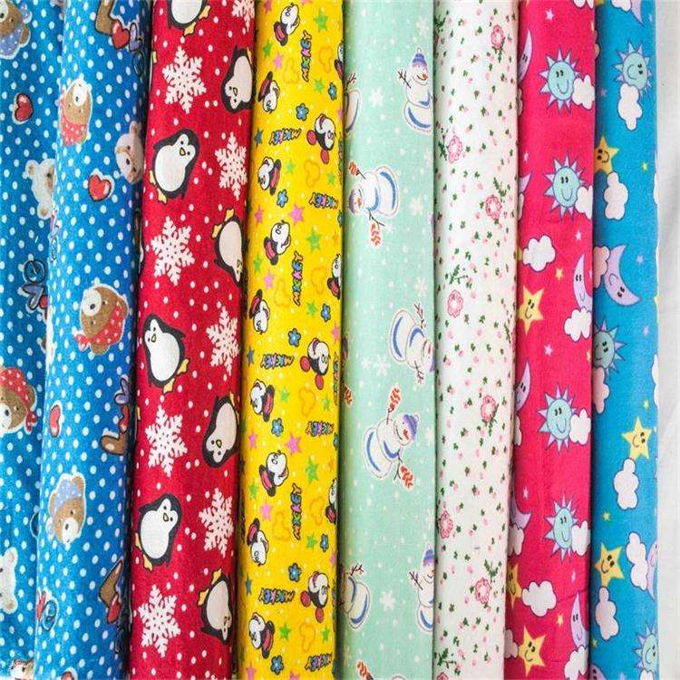 100% cotton flannel printed fabric flannel for home textile