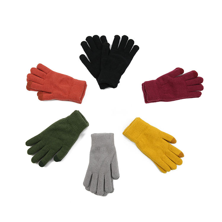 thinsulate warm cotton custom winter knitted gloves