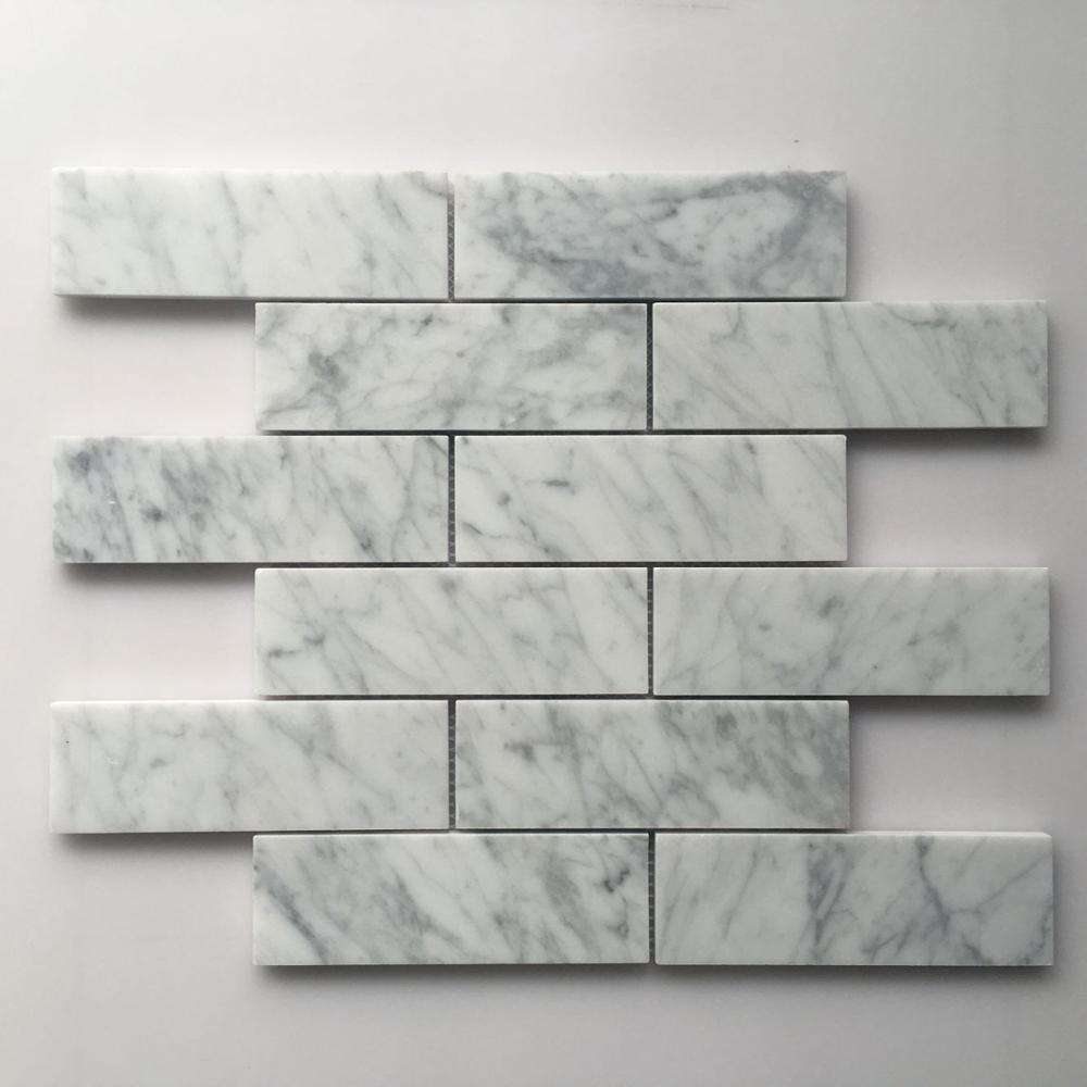 L&P Mosaic LWR102 Subway style white carrara marble mosaic tile for luxury floor and wall