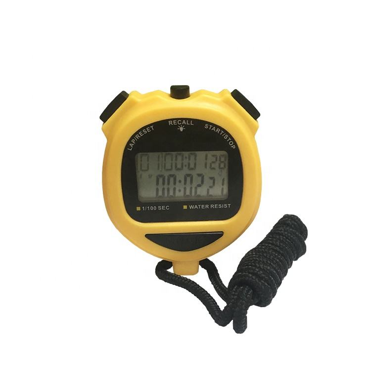 2 lijn display 10 of 60 lap geheugen professionele stopwatches met backlight en pacer