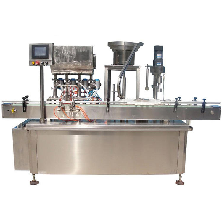 Auto high speed mineral water bottle filling capping and labeling machine