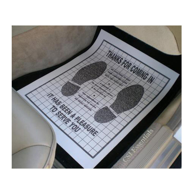 Quality Disposable Plastic Coated Paper Floor Mats For Cars