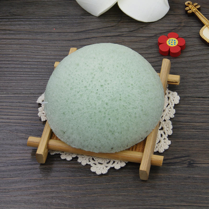 Wholesale organic konjac loofah beauty cosmetics magic facial sponge