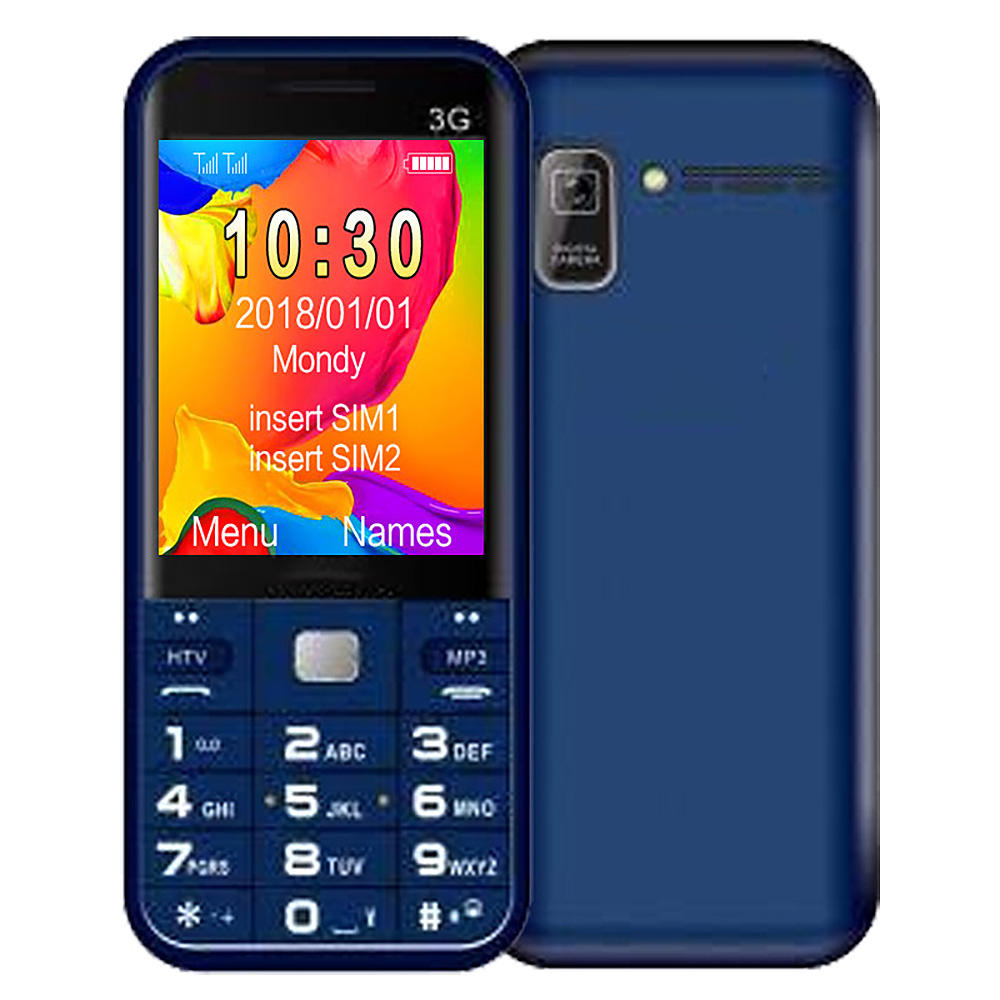 1.8 inch color screen simple function feature phones 3G call mobile for D1